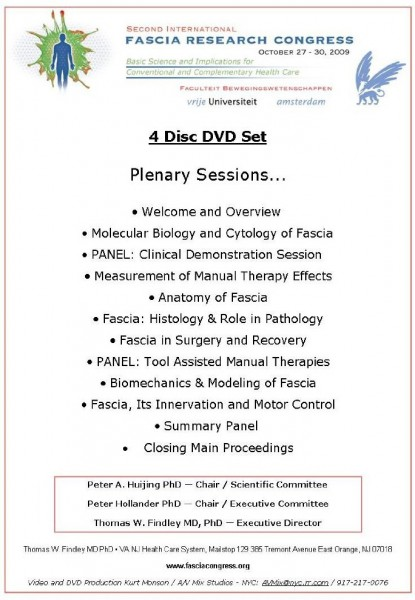 Fascia Research Congress 2012, 4 DVD`s (EN)