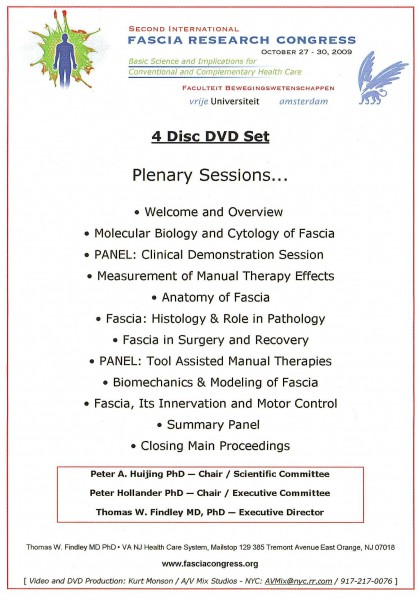Fascia Research Congress 2009, 4 DVD`s (EN)